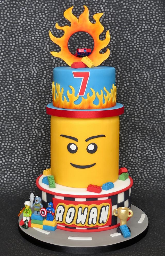 Lego and Hot Wheels Cake