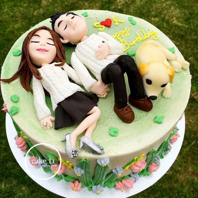 Cake for lovely couple