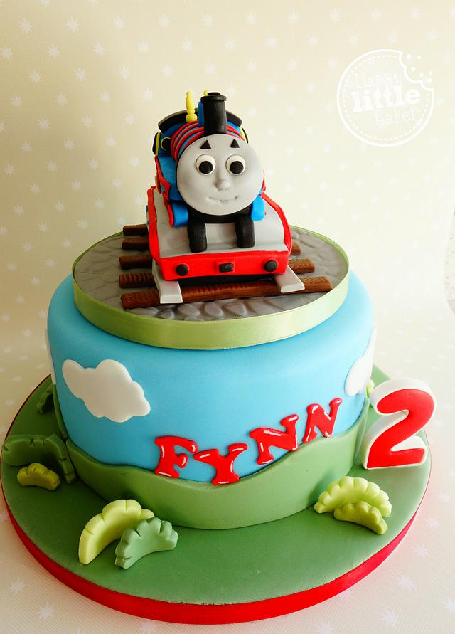 Strange Thomas The Tank Engine Birthday Cake Cake By Happy Cakesdecor Personalised Birthday Cards Sponlily Jamesorg