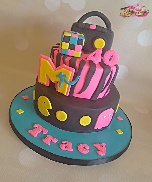 80s theame cake