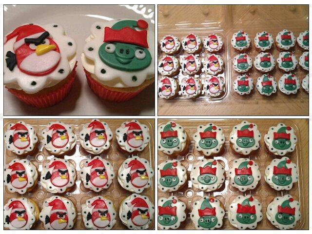 Angry birds seasons cupcakes