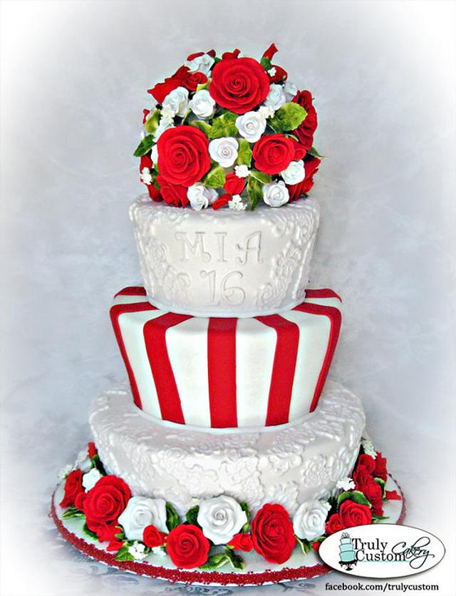 Sweet Sixteen in Red and White