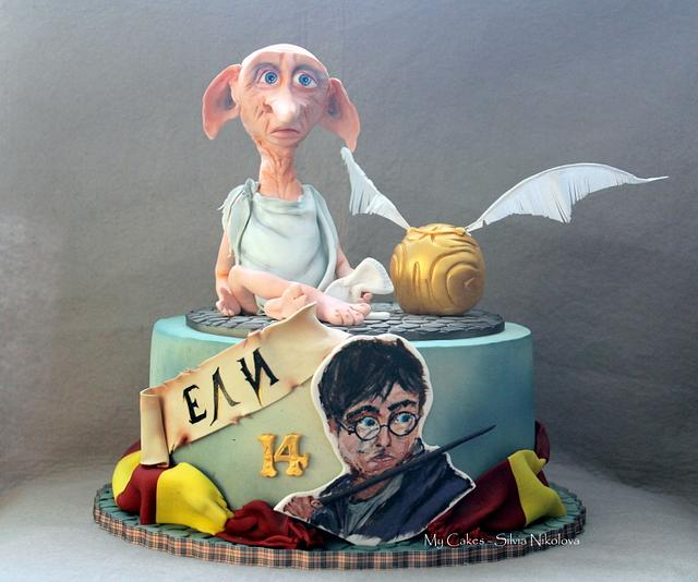 Hand Painted Harry Potter Cake