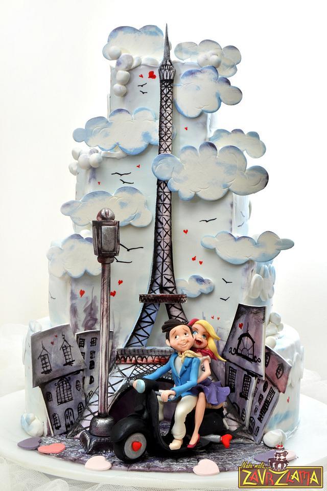 Paris Wedding Cake