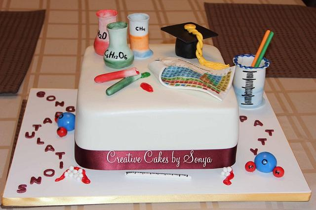Chemistry Major Graduation Cake