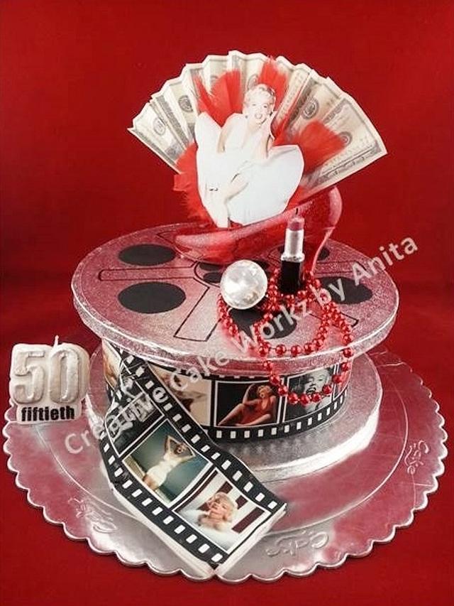 Amazing Marilyn Monroe Movie Reel Cake Cake By Chuckles Cakesdecor Personalised Birthday Cards Paralily Jamesorg