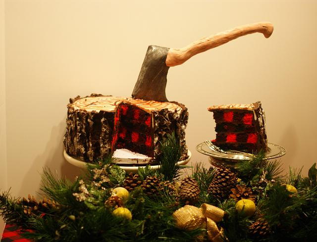 A Lumberjack's Christmas Cake