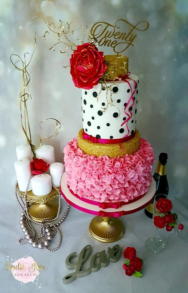 Gold and Pink 21st Birthday