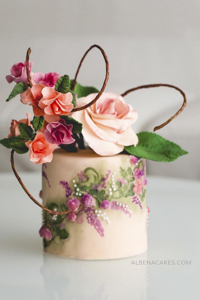 #4 Wedding Cake inspired by Enchanted Garden
