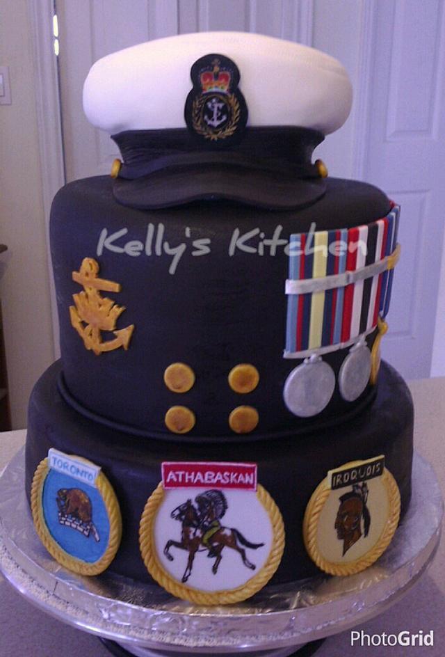 (Canadian) Navy Retirement cake