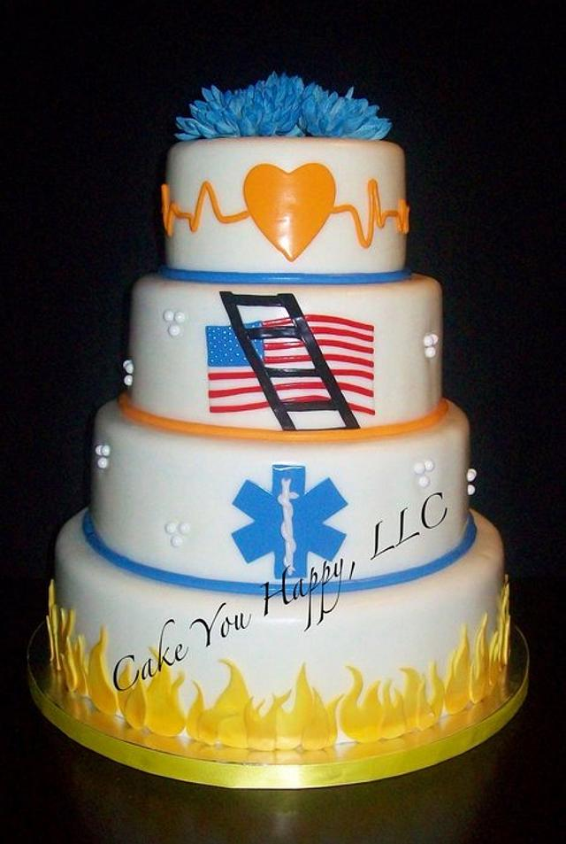 Firefighter/EMS Wedding