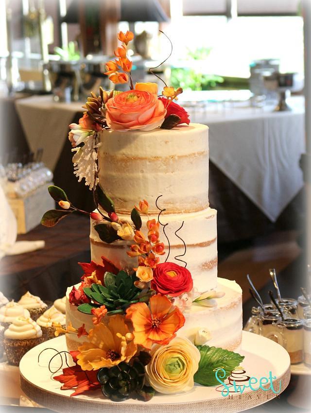 Naked Wedding Cake - cake by Kate - CakesDecor