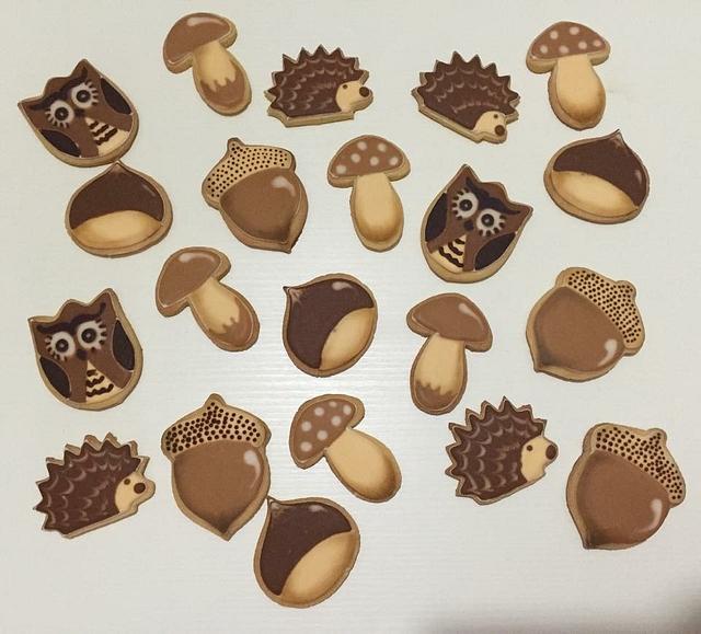 Autumn Royal Icing Cookies