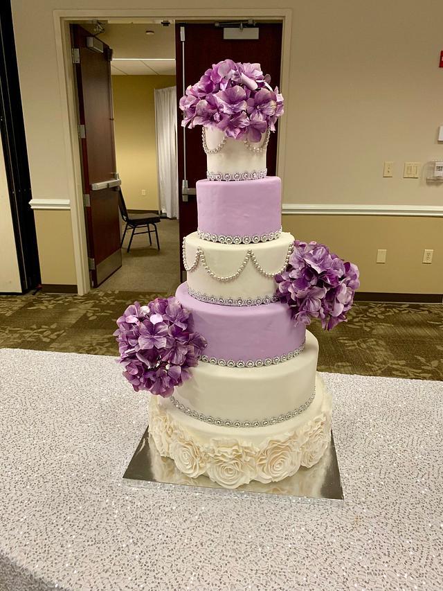 6 tiered wedding