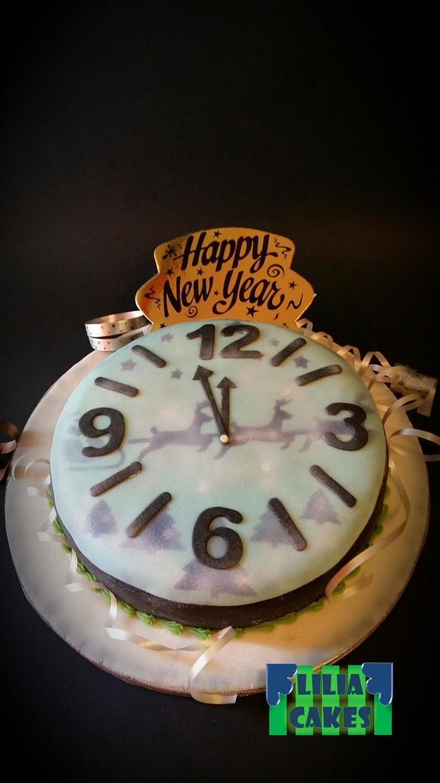 Happy New Year 2017! Βασιλόπιτα κέικ!