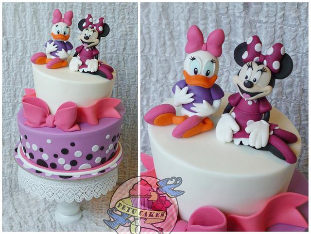 Incredible Minnie And Daisy Cake By Petra Kratka Petu Cakes Cakesdecor Personalised Birthday Cards Vishlily Jamesorg
