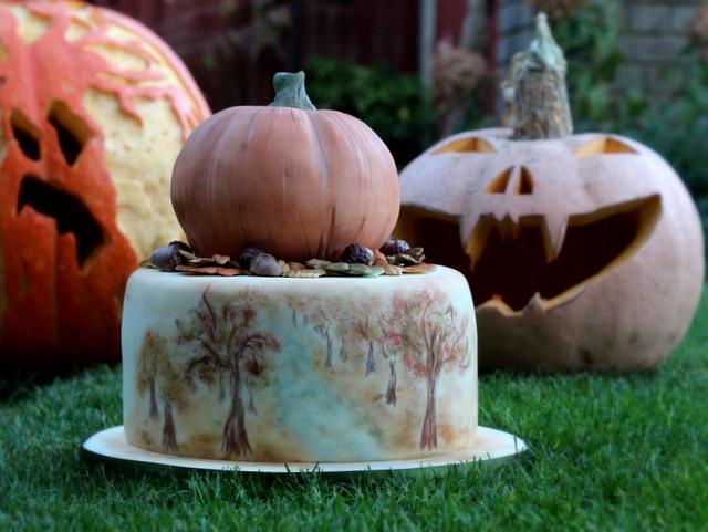 Autumnal birthday cake