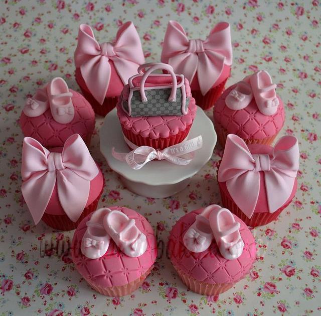 Designer Babyshower Cupcakes