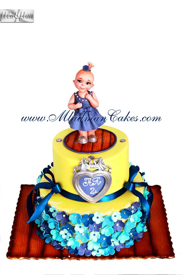 Baby in Blue Cake