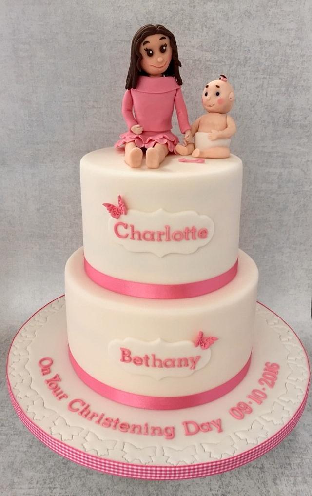 Christening Cake for Sisters