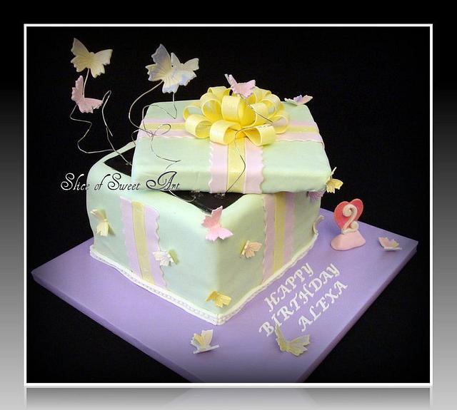 Butterfly Gift Box Birthday