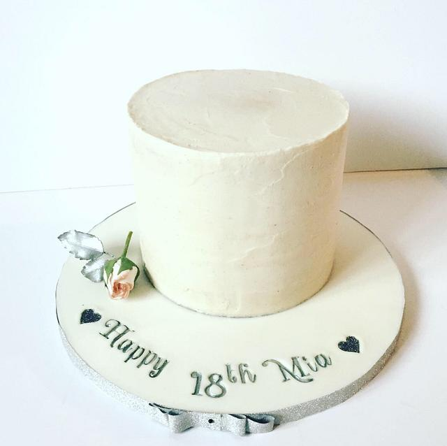 Plain rustic cake