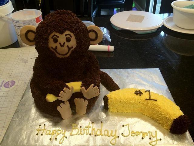 3D Monkey 1st Birthday