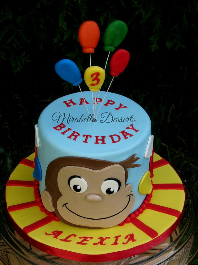 Excellent Curious George Birthday Cake Cake By Mira Mirabella Cakesdecor Personalised Birthday Cards Beptaeletsinfo