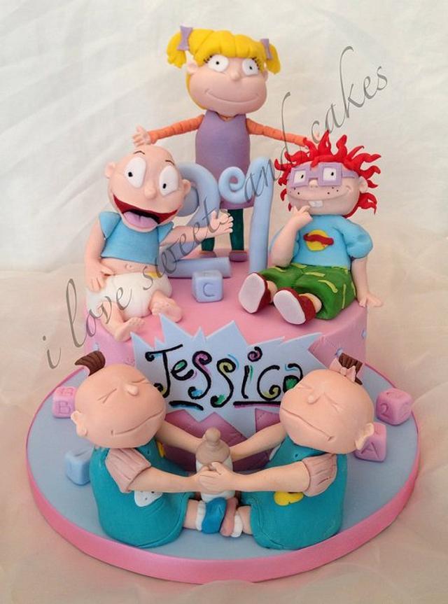 Groovy Rugrats 21St Birthday Cake Cake By Vicki Graham Cakesdecor Funny Birthday Cards Online Necthendildamsfinfo