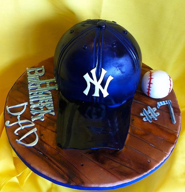NY Yankees Hat cake
