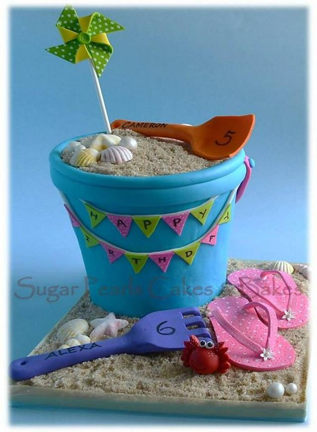Sand bucket cake