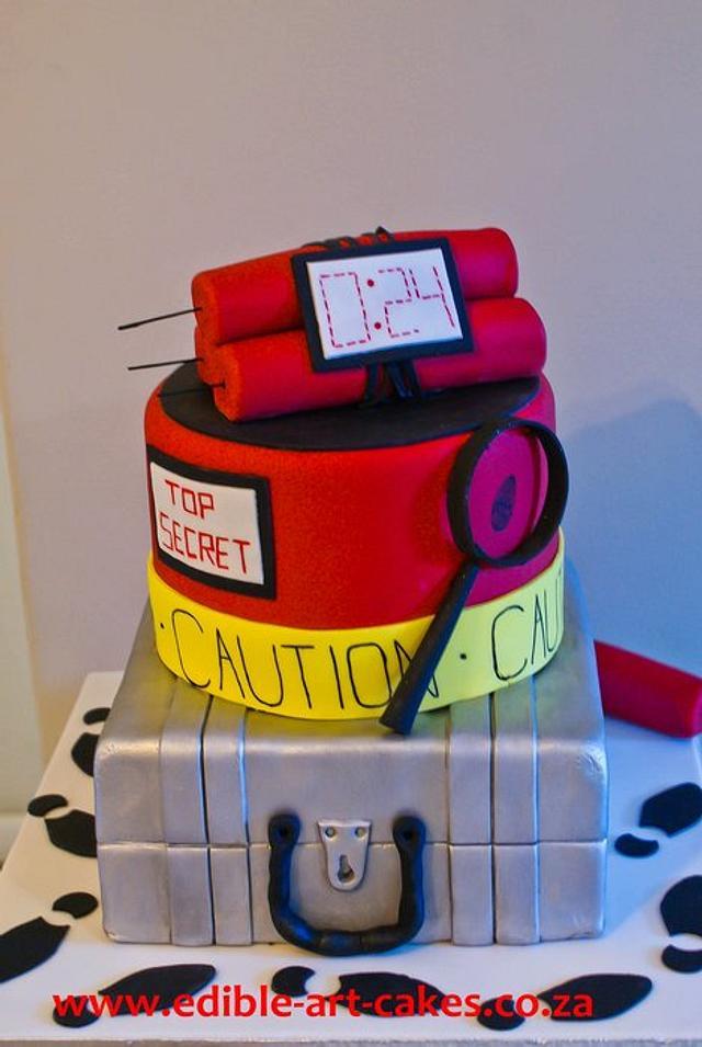 Wondrous Spy Cake Cake By Edible Art Cakes Cakesdecor Birthday Cards Printable Giouspongecafe Filternl