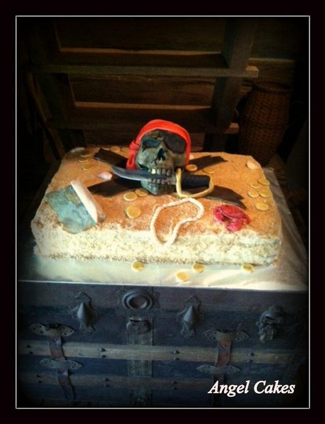 Pirate themed Groom's Cake