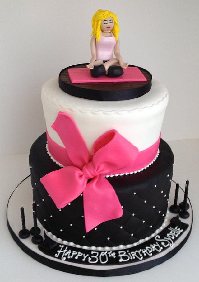 Yoga Inspired 30th Birthday Cake
