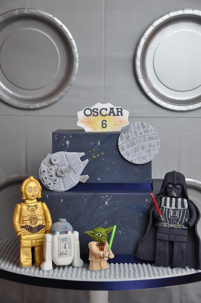 Super Lego Star Wars Birthday Cake Cake By Mrs Robinsons Cakesdecor Funny Birthday Cards Online Overcheapnameinfo