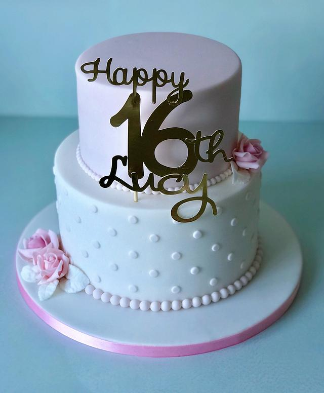Magnificent 16Th Birthday Cake Cake By Lorraine Yarnold Cakesdecor Funny Birthday Cards Online Unhofree Goldxyz