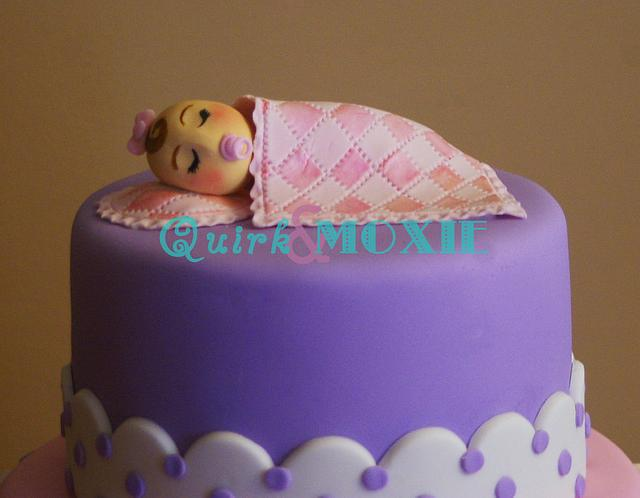 BabyShower Cake. From NYC to Maryland, with love.