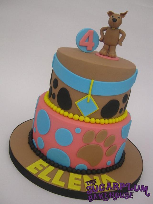 Stupendous 2 Tier Scrappy Doo Scooby Doo Birthday Cake Cake By Cakesdecor Funny Birthday Cards Online Alyptdamsfinfo