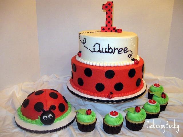 Sensational Ladybug First Birthday Cake By Becky Pendergraft Cakesdecor Funny Birthday Cards Online Kookostrdamsfinfo