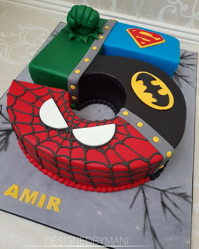 Strange Justice League Themed Cake Cake By Designed By Mani Cakesdecor Funny Birthday Cards Online Kookostrdamsfinfo