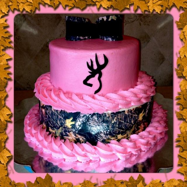 Super Pink Camo Cake By Mullins Cakesdecor Funny Birthday Cards Online Overcheapnameinfo