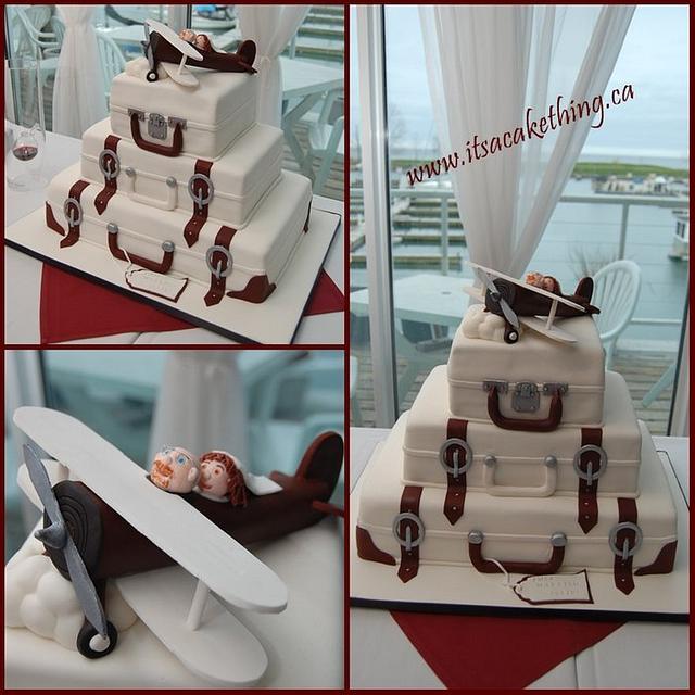 Wedding cake for Avid Travellers