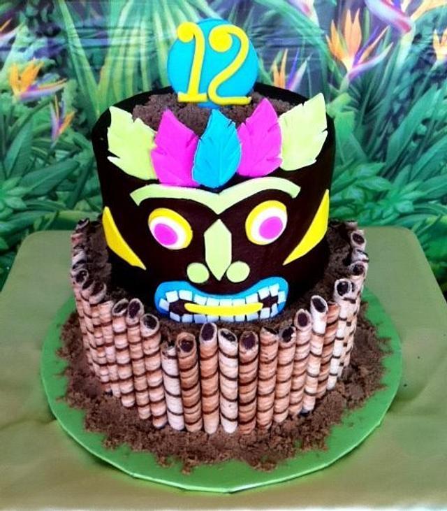 Pleasant Tiki Birthday Cake Cake By Michelle Cakesdecor Funny Birthday Cards Online Elaedamsfinfo