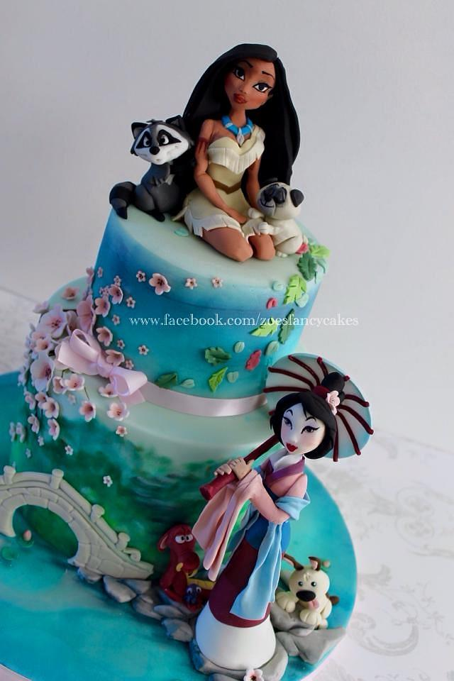 Outstanding Mulan And Pocahontas Cake Cake By Zoes Fancy Cakes Cakesdecor Personalised Birthday Cards Cominlily Jamesorg