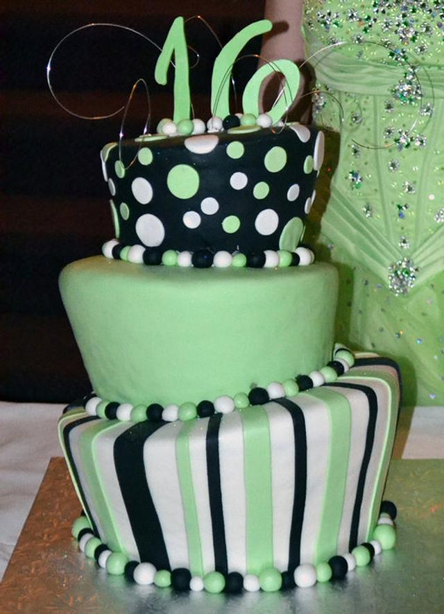 My first sweet 16 topsy turvy