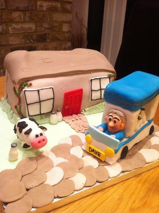 Milkmans Milk Float Cake