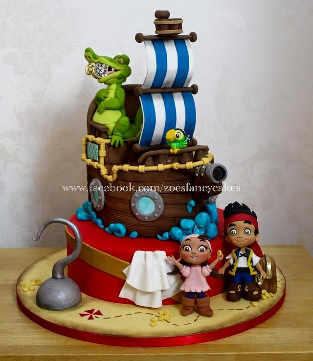 Wondrous Jake And The Neverland Pirates Birthday Cake Cake By Cakesdecor Funny Birthday Cards Online Inifodamsfinfo