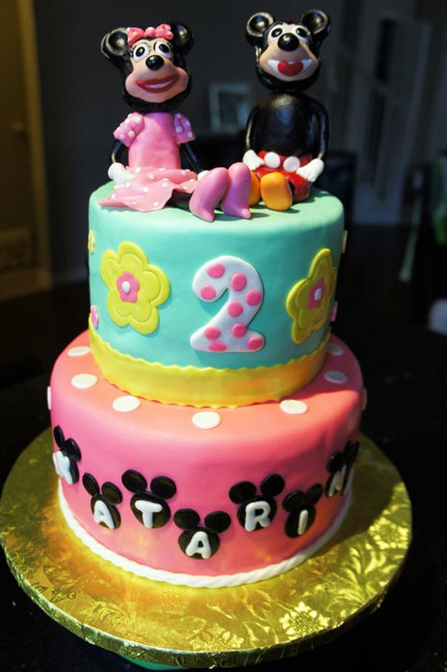 2-tier birthday cake