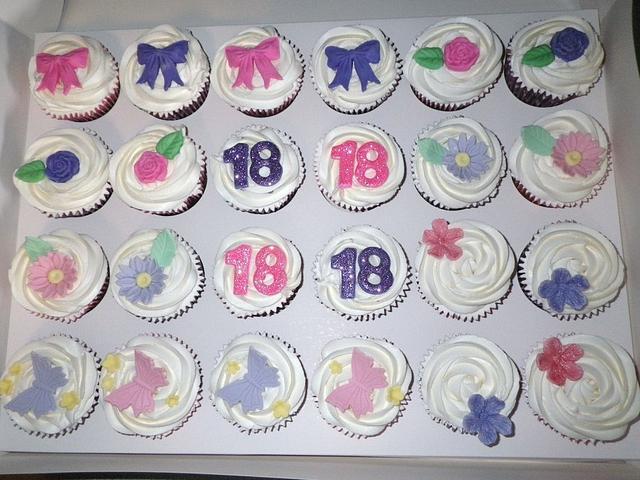 Girly 18th Cupcakes