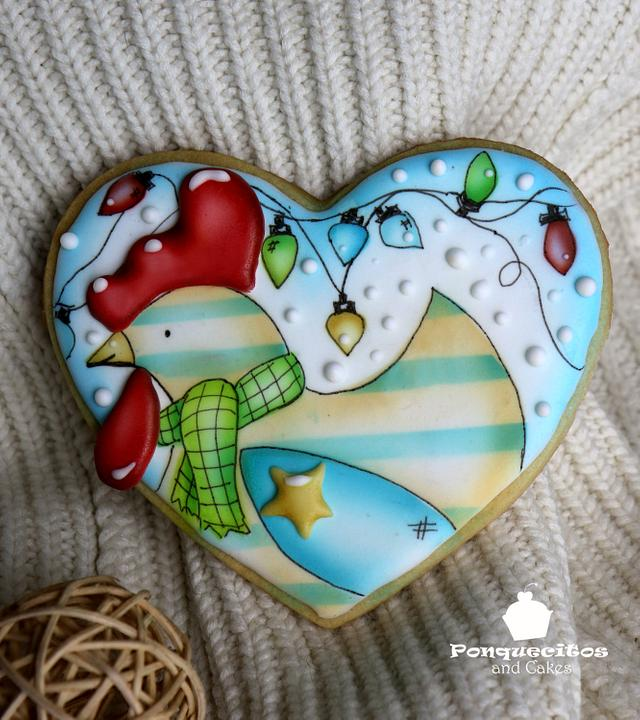 Little chicken airbrush cookie